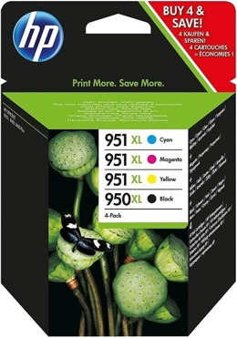 Tusze HP C2P43AE nr 950XL+951XL do 251, 276, 8100, 8600, 8610, 8620 - komplet CMYK