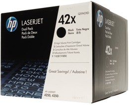 Tonery HP Q5942XD, nr 42X do LJ 4250, 4350 - czarne dwupak